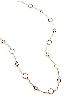 Kim Rogers 36 Inch Silver Plated Necklace Channel Necklace