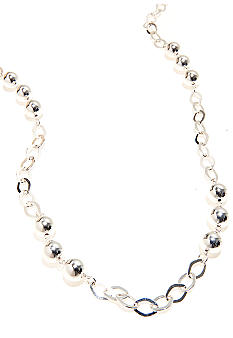 Kim Rogers 36-in. Open Link Silver Plated Necklace with 10 MM Beads