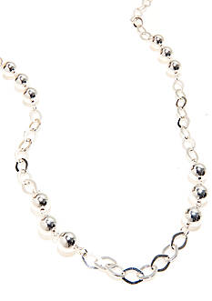 Kim Rogers 36-in. Open Link Silver Plated Necklace with 10-mm. Beads