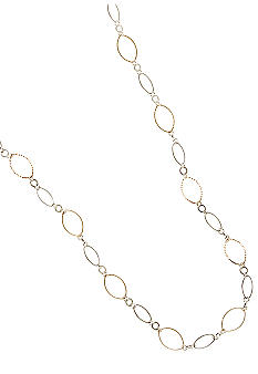 Kim Rogers Two Tone Textured Oval Links Necklace