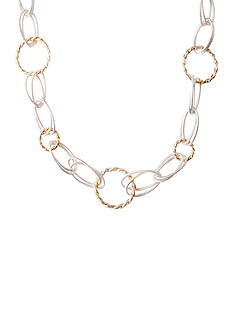 Kim Rogers Two-Tone Oval Ring Chain Necklace