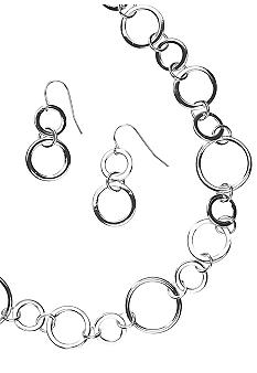 Kim Rogers® Sensitive Skin Circles Necklace and Earring Set