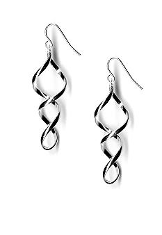 Kim Rogers Spiral Twist Drop Earrings