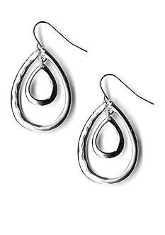 Kim Rogers Double Teardrop Loops Drop Earrings