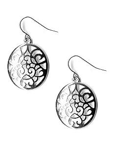 Kim Rogers Cutout Disc Drop Earrings