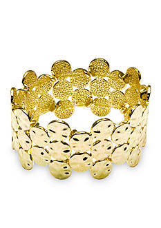 Kim Rogers Gold-Tone Circle Circus Stretch Bracelet