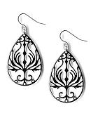 Kim Rogers® Cutout Tear Drop Earrings