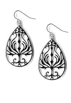 Kim Rogers Cutout Tear Drop Earrings