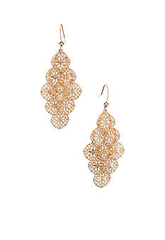 Kim Rogers Filigree Drop Cluster Earrings