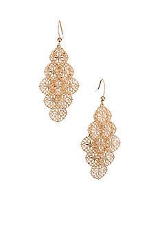 Kim Rogers Filigree Drop Cluster Earrings
