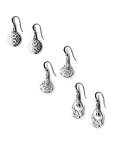 Kim Rogers® Trio Filigree Drop Earrings Set