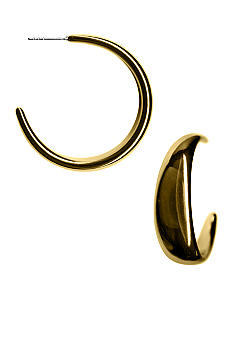 Kim Rogers Polished Wide Tapered Hoop Earrings