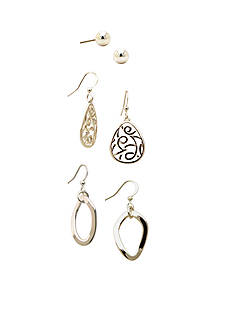 Kim Rogers Ball And Drop Trio Earring Set