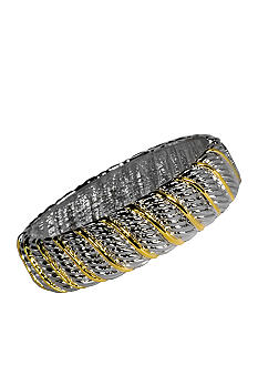 Kim Rogers Textured Artisan Inspired Hinged Bangle