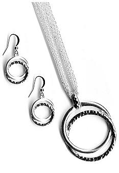 Kim Rogers Double Circle Pendant And Earrings Set