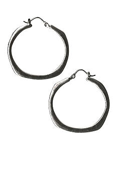 Kim Rogers Polished Square Shaped Hoop Earrings