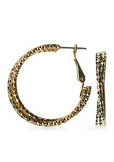 Kim Rogers Textured Twist Hoop Earrings