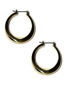 Kim Rogers® Polished Gold Hoop Earrings