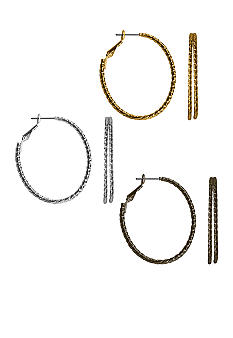 Kim Rogers Trio Hoop Earrings Set