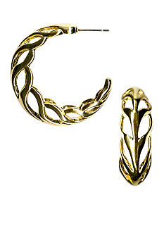 Kim Rogers Open Braid Hoop Earrings