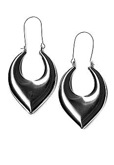Kim Rogers Puffy Teardrop Hoop Earrings