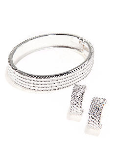 Kim Rogers Boxed Hinged Bangle And Earring Set