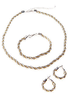 Kim Rogers Boxed Rope Necklace, Bracelet And Earring Set