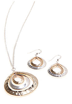 Kim Rogers Boxed Two Tone Pendant Drop Set