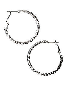 Kim Rogers Rope Textured Hoop Earrings