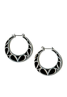 Kim Rogers® Jet Enamel Hoop Earrings