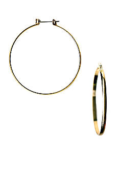 Kim Rogers Narrow Polished Hoop Earrings