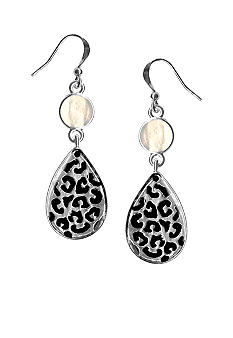 Kim Rogers Jet Spotted Drop Earrings