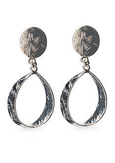 Kim Rogers Oval Loop Drop Clip Earrings