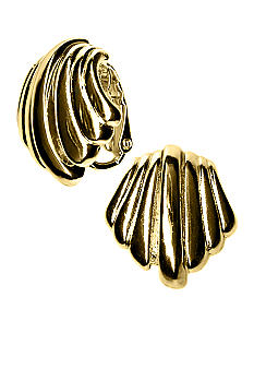 Kim Rogers Clam Shell Button Clip Earrings