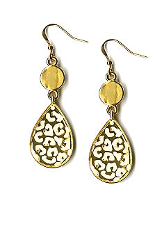 Kim Rogers White Spotted Drop Earrings