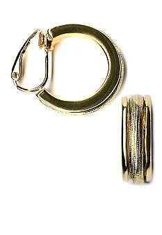 Kim Rogers Wedding Band Style Clip Hoop Earrings
