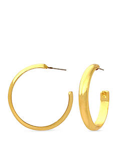 Kim Rogers Gold-Tone Hoop Earrings