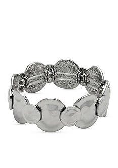 Kim Rogers Silver-Tone Sensitive Skin Stretch Bracelet