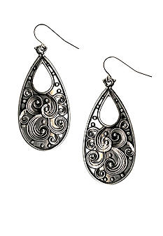 Kim Rogers Scroll Design Tear Drop Earrings