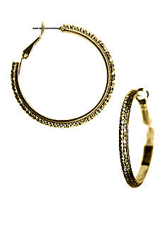 Kim Rogers Textured Hoop Earrings