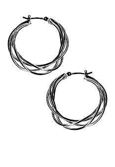 Kim Rogers Wire Weave Hoop Earrings
