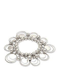 Kim Rogers Silver-Tone Circle Circus Stretch Bracelet