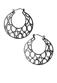 Kim Rogers Flat Circles Cutout Hoop Earrings