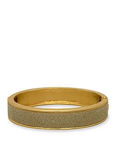 Kim Rogers Gold-Tone Silver Glitter Hinge Boxed Bracelet