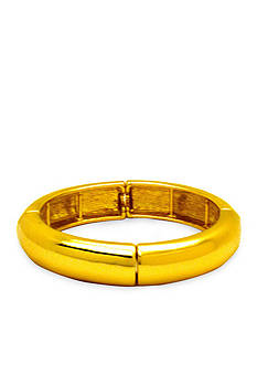 Kim Rogers Gold-Tone Domed Bangle Bracelet