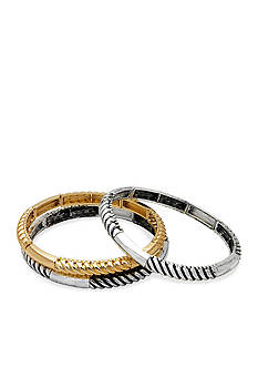 Kim Rogers Two-Tone Sensitive Skin Trio Stretch Bracelets