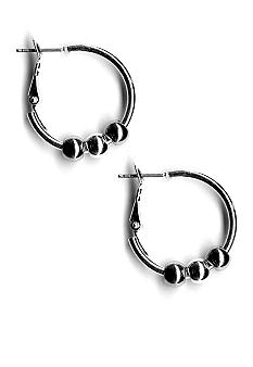 Kim Rogers Polished Hoop With Beads Earrings