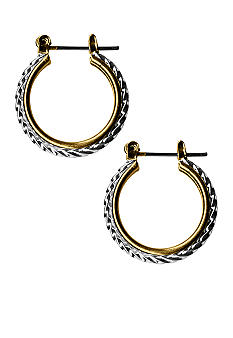 Kim Rogers Twotone Rope Hoop Earrings