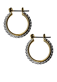 Kim Rogers Two-Tone Rope Hoop Earrings
