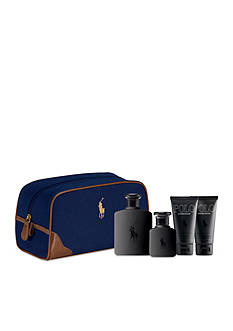 Ralph Lauren Polo Double Black Travel Gift Set